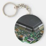 Chip Basic Round Button Keychain