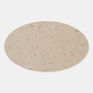 chip board oval sticker