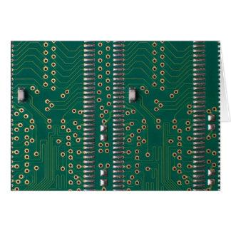 Chip de memoria tarjeta de felicitación