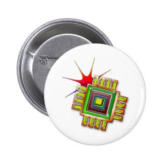 Chip de ordenador de lujo pin redondo de 2 pulgadas