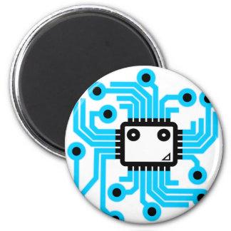 Chip de ordenador de neón de la CPU Imán Redondo 5 Cm