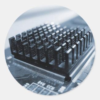 Chip de ordenador Geeky - GeekShirts Pegatina Redonda