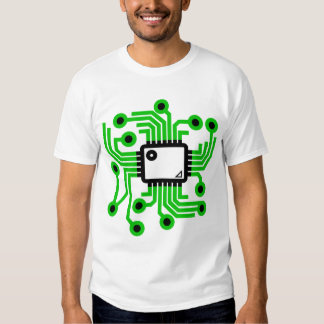 Chip de ordenador playeras