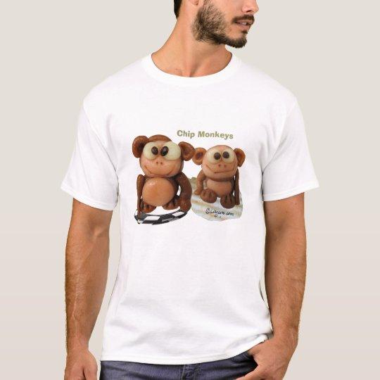 Chip Monkeys Kids Funny T Shirt