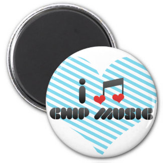 Chip Music fan Magnets