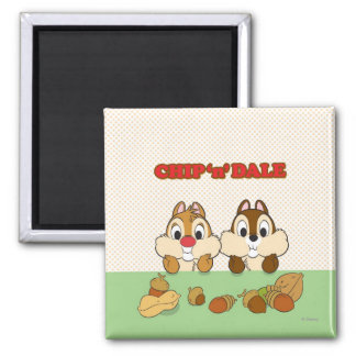 Chip 'n' Dale 2 Inch Square Magnet