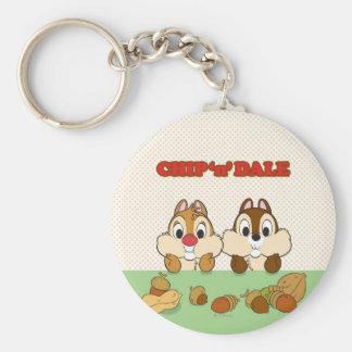 Chip 'n' Dale Basic Round Button Keychain