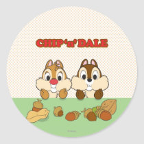 Chip 'n' Dale Classic Round Sticker