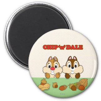 Chip 'n' Dale 2 Inch Round Magnet