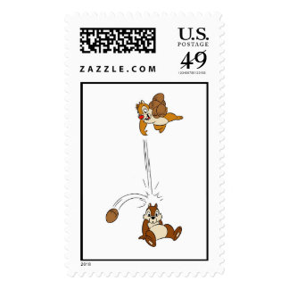 Chip 'n' Dale Nut Fight Disney Stamps