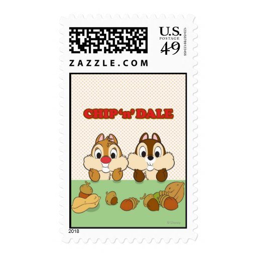 Chip 'n' Dale Postage Stamps