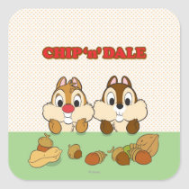 Chip 'n' Dale Square Sticker