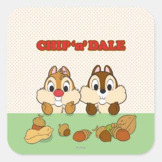 Chip 'n' Dale Square Sticker