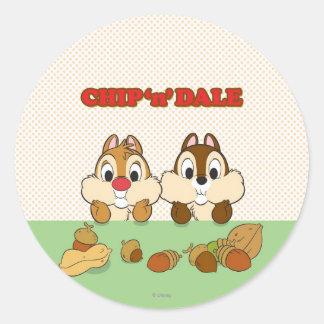 Chip 'n' Dale Classic Round Sticker