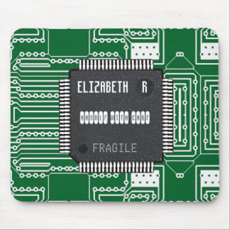 Chip On Printed Circuit Board With Your Name Mouse Pad