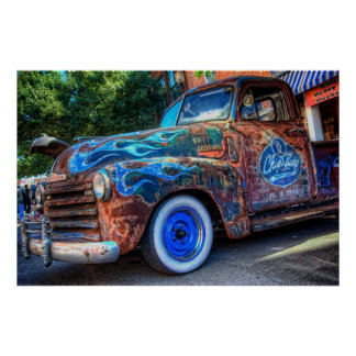 Chip & Rusty's Paint Shop Rat Chevy Poster