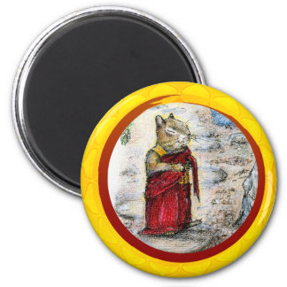 CHIP THE MONK 2 INCH ROUND MAGNET