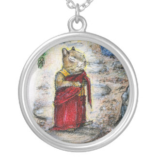 CHIP THE MONK ROUND PENDANT NECKLACE