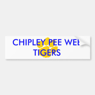 Chipley Pee Wee Football and Cheerleading Fan and Bumper Stickers