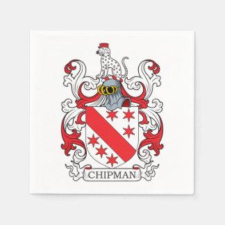 Chipman Family Crest Disposable Napkin