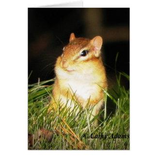 Chipmonk sonriente tarjeta pequeña