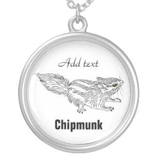Chipmunk 18 round pendant necklace