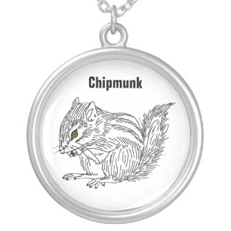 Chipmunk 18 silver plated necklace