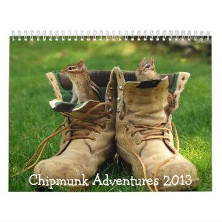 Chipmunk Adventures 2013 Calendar