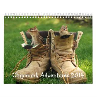 Chipmunk Adventures 2014 Calendar