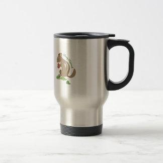Chipmunk alegre taza de viaje de acero inoxidable