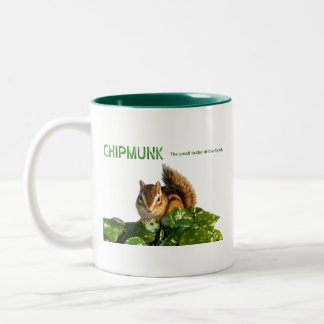 Chipmunk and The small butler of the forest Two-Tone Coffee Mug