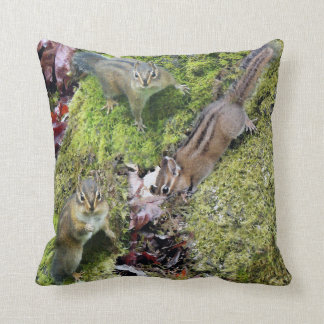 Chipmunk Animals Wildlife Photography Throw Pillow