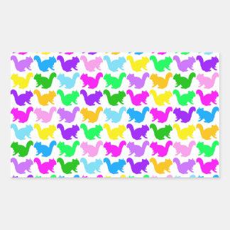 Chipmunk, ardilla, ejemplo (colorido) rectangular pegatina