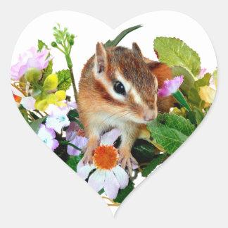 chipmunk, ardilla, foto colcomanias de corazon personalizadas