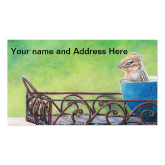 Chipmunk  Art Business Card