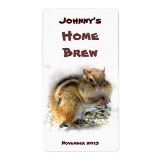 Chipmunk Beer Label