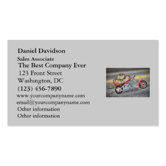 Chipmunk Biker Riding a Motorcycle Business Card