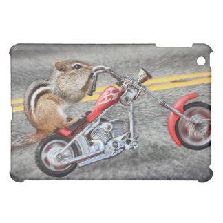 Chipmunk Biker Riding a Motorcycle iPad Mini Covers