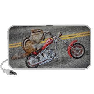 Chipmunk Biker Riding a Motorcycle PC Speakers