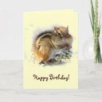 Chipmunk Birthday Card