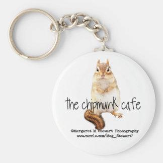 Chipmunk Cafe Logo Keychain