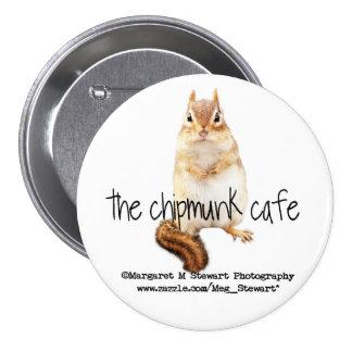 Chipmunk Cafe Logo Pinback Button