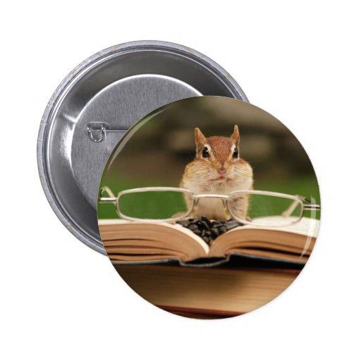 Chipmunk cariñoso del libro pins