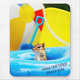 Chipmunk certificado USDA del vago de la playa Mousepad