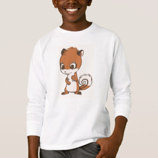 Chipmunk Character Long Sleeve Shirt kids
