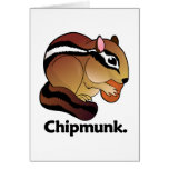 Chipmunk. Chipmunk Felicitación
