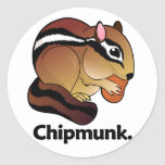 Chipmunk. Chipmunk Pegatinas Redondas