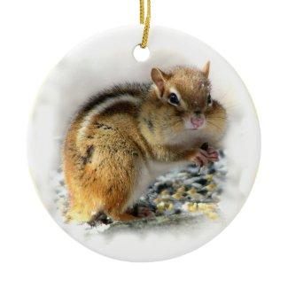 Chipmunk Christmas Ornament ornament