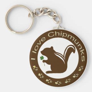 Chipmunk_ Circle_10 Key Chains