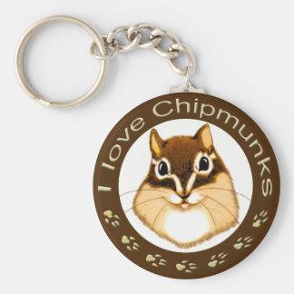 Chipmunk_ Circle_11 Keychain
